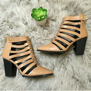 Cage Style Cut out booties sz 10